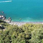 Spiaggia di Punta Corvo vista da Montemarcello