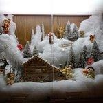 Paesaggio invernale natalizio.