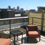 Our suite terrace overlooking Milwaukee (you should see this at night)