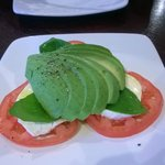 Tricolor - avocado-mozzarella-tomato....really tasty.