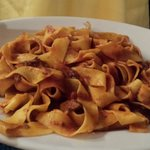 Pappardelle all'anatra.