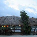 Restaurant and deck at Granada Beach House
