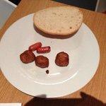 Завтрак. Прикольные мини-сосиськи. На вкус обычные.