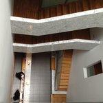 Escadas do hotel