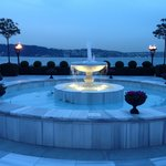 Beautiful fountain with the Bosphorus in the background