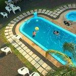 Vista area de la piscina
