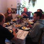 Breakfast with friends.