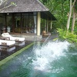 2 bedroom pool villa - view of master ensuite pavilion & pool
