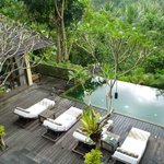 2 bedroom villa - view of pool & master ensuite pavilion from the 2nd bedroom balcony
