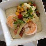 Mini Shrimp & Grits from Asheville's Small Plate Crawl menu at Blue Kudzu