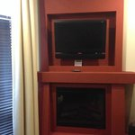 fireplace/television