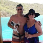 Wife & I aboard the Willy T for lunch