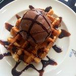 Chocolate Ice Cream Waffle