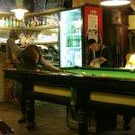 Snooker table at cafe cum bar