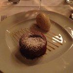Fondant au chocolat with Vanilla ice-cream