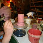 Cours du poterie en village/pottery course in the village