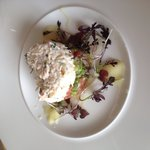 Newlyn crab salad and avocado