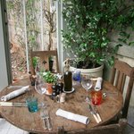 Conservatory dining setting