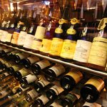 Large selection of vintage wines from their cellar (displayed very impressively might I add)