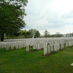 A view of the many grave stones of our brave