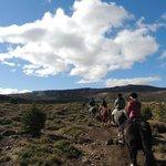 incio do passeio pela estepe patagônica