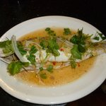 Steam sea bass with chilli and lemon grass sauce