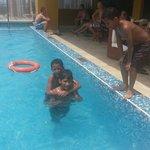 Mis hijos disfrutaron al máximo la piscina del hotel