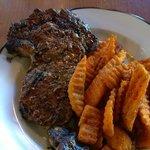 Ribeye and fries