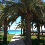 Blick von der Terrasse der Beach Suite