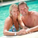 Couple Enjoying WCR Pool