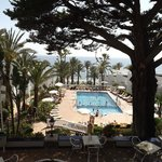 Beautiful heated pool with wonderful view of the sea