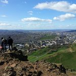 View over the city from Arthurs Seat