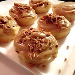 Maple Coffee Topped Cinnamon Buns! (With candied bacon, pecans, or plain iced)
