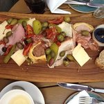 sharing grazing platter