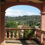 Sicht vom Hotel in die weite Landschaft