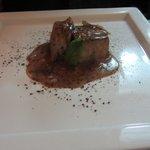 Tuna with chocolate sweet and sour sauce