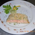 Salmone in crosta di pane