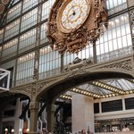 The former Gare d'Orsay's 'Gilded Age' main station clock