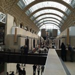 The Musée d'Orsay main concourse, with galleries to each side, and above