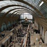 Looking down onto the main Musée d'Orsay concourse