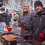 BBQ'd Dogs and Burgers at Apres!