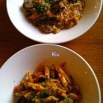 Risotto al frutti di mare & Penne alla Siciliana