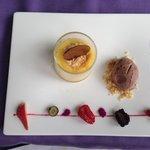 Cream brûlé e gelato al cioccolato