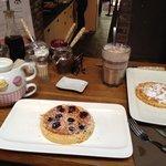 Blueberry pancake & original pancake