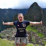 Happy Tourist in Machu Picchu