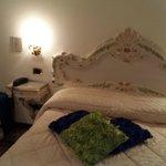 Il letto della camera 108