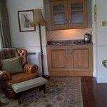 Suite - sitting room and small sink / tea / coffee/ fridge....