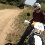 Motorbike game drive at Queen Elizabeth National park