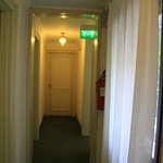 The corridor ouside the rooms