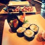 Delicious shrimp tempura roll.